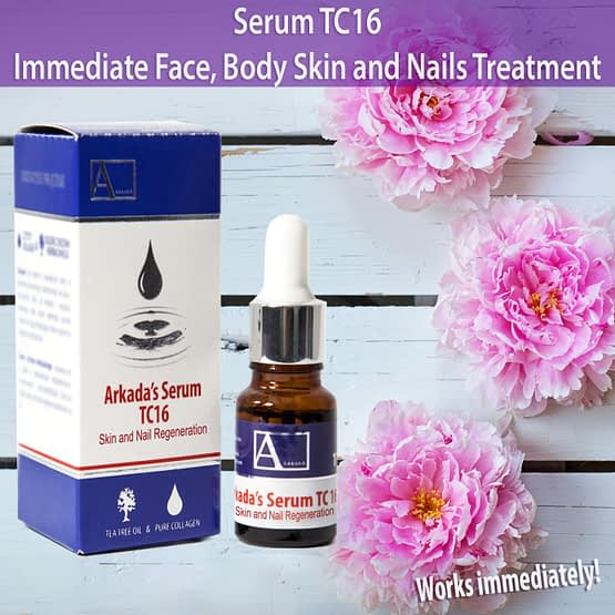 serum tc16 immediate face body skin nails treatment